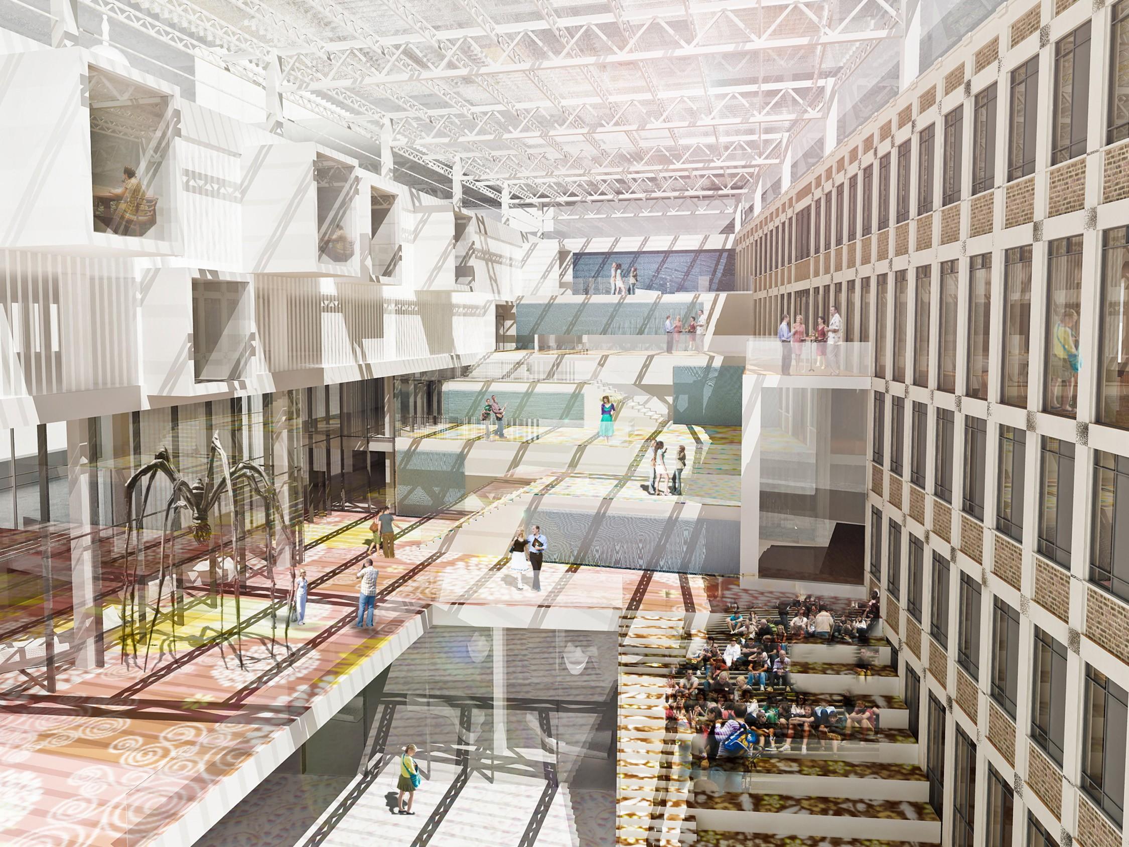 office atrium designs central atrium in city office